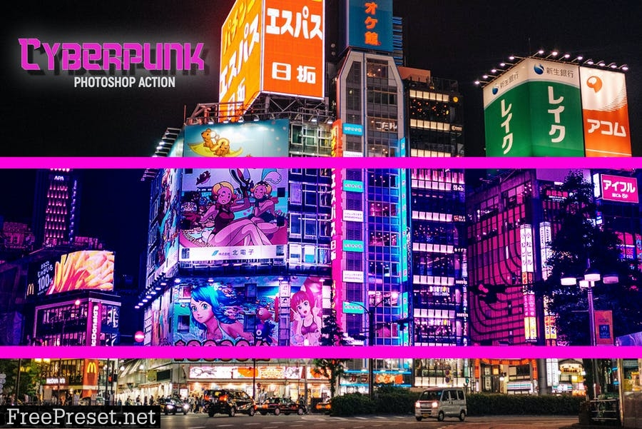 Cyberpunk   Photoshop Action 2XWURZG