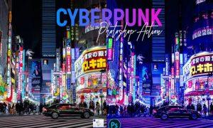 Cyberpunk | Photoshop Action 2XWURZG