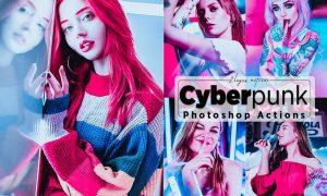 Cyberpunk Portrait Photoshop Actions 9T3V6KF