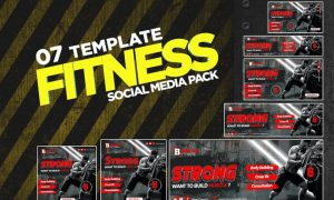 Fitness Social Media Pack FCHR57X
