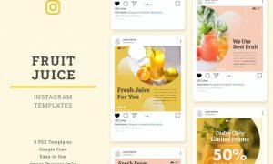 Fruit Juice Instagram Post Template AVS6VMM