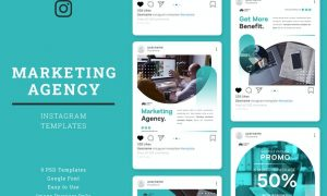 Marketing Agency Instagram Post Template J78HZGH
