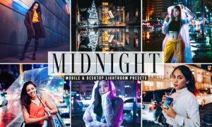 Midnight Mobile & Desktop Lightroom Presets
