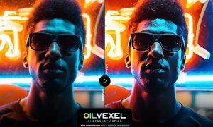 Oil Vexel Photoshop Action 5Y95UXR
