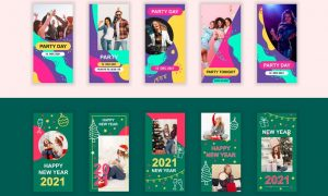 Party and New Year Instagram Stories Template XN4BMXY