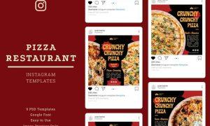 Pizza Restaurant Instagram Post Template