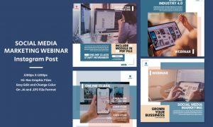 Social Media Marketing Webinar - Instagram Post D6BFH3M