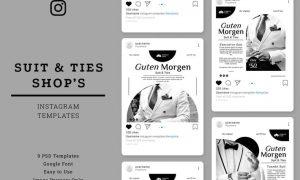 Suit & Ties Shop Instagram Post Template EDLVABU
