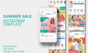 Summer Sale Instagram Template URGVGL3