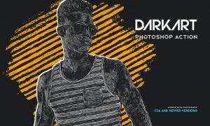 DarkART Painting Photoshop Action YEALJ4B