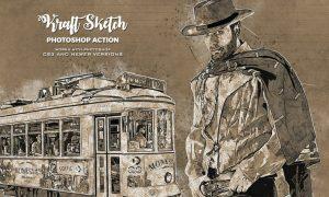 Kraft Sketch Photoshop Action - Pencil Effect NKEQTR7
