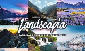 Landscapia Photoshop PRO Actions XF7UYD8