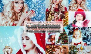 Xmas Christmas Photosahop Actions XC44GNV