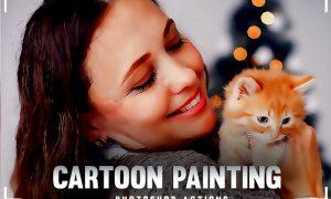 Cartoon Painting Photoshop Action PZ78PU5