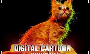 Digital Cartoon Photoshop Action 2SS4S96