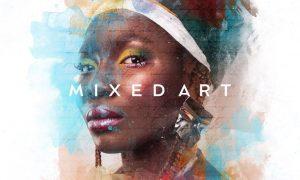 Mixed Art Photo Effect 3USGX5J