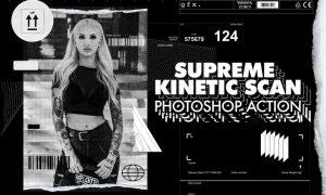 Supreme Kinetic Scan Photoshop Action JXJFFFR