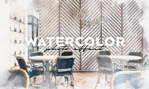 Watercolor Photoshop Effect 32CPTNL