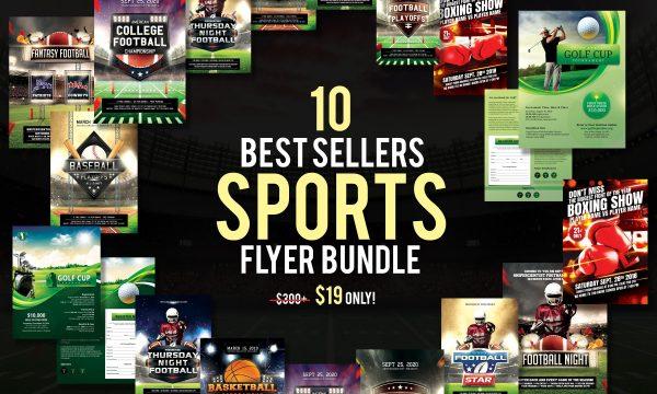 10 Best Sellers Sports Flyer Bundle 3152664