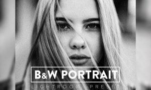 10 Black and White Portrait Lightroom Preset