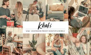 10 Khaki Mobile & Lightroom Presets 5964106