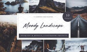 10 x Lightroom Moody Landscape 5962629