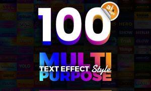 100 in 1 Bundle Multipurpose Text Effect 7153950