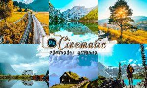 12 Cinematic Travel Photoshop Actions XW87PCB