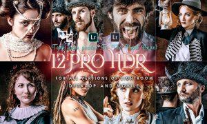 12 PRO HDR Portrait Lightroom Presets