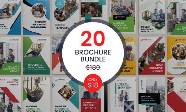20 Bi-fold Brochure Template Bundle 5487372