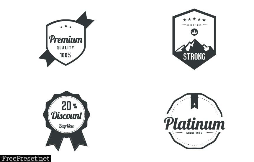 20 Vintage Labels & Badges 4KUL94