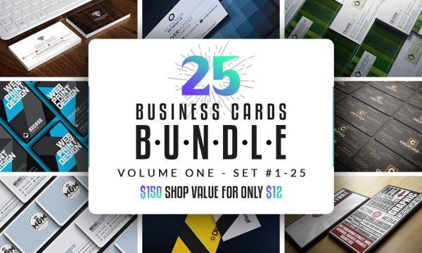 25 Business Cards Bundle – Vol 01 2991092