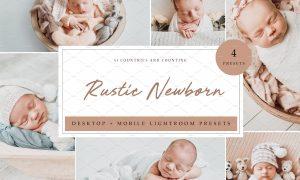 4 x Lightroom Presets Rustic Newborn 5962692