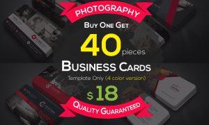 40 Photography Business Cards Bundle 4606406