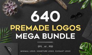 640 Premade Logos Mega Bundle 2971515