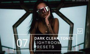 7 Dark Clean Tones Lightroom Presets + Mobile