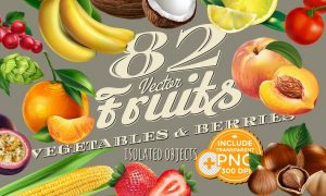 82 Fruits, Berries and Vegetables RBWTHV