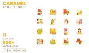 900+ Vector Icons Bundle - Caramel Series  C4NWUF