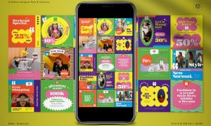 90s Color Bold Instagram Pack TVHBUE9