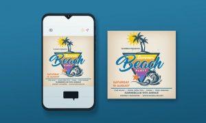 Beach Party Instagram Post 2VT4G45