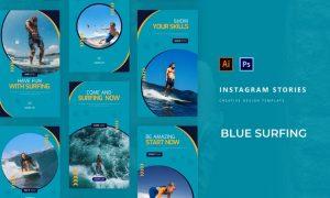 Blue Surfing Instagram Story LLKYQQU