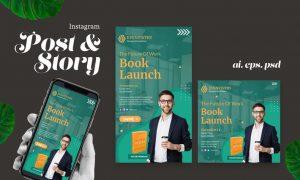 Book Launching Instagram Post Story JM5LG8N