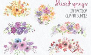 Bundle of Mixed Floral Sprays 3K5NGK3