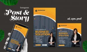 Business Solution Instagram Post Story 7JAA4NU