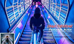Canva Cyberpunk Photoshop Action 5819597