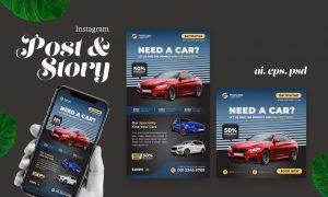 Car Sales Instagram Post Story A3U4AYT