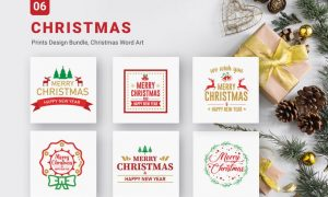 Christmas Bundle of SVG PNG EPS Cutting Files  S74R638