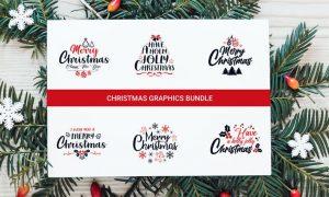 Christmas Graphics Bundle ,Typography Design YRLAYAM