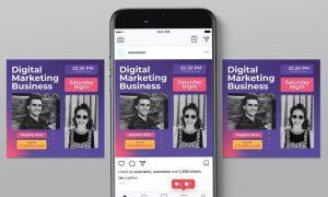 Clubhouse Digital Business Instagram Post VRV6VBP