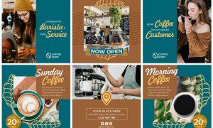 Coffee Shop #01 Instagram Feeds Pack P2AL7Y2